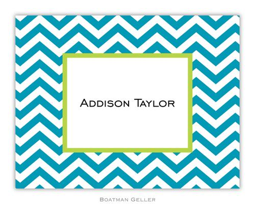 Chevron Turquoise Foldover Note from Boatman Geller
