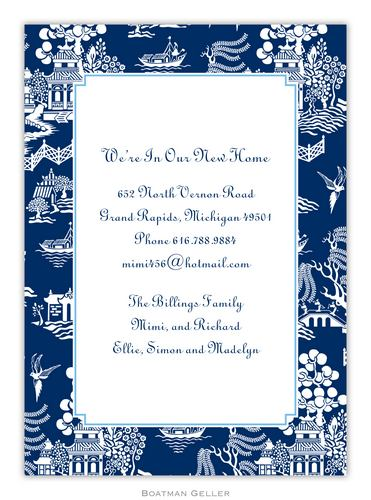 Chinoiserie Navy Invitation from Boatman Geller