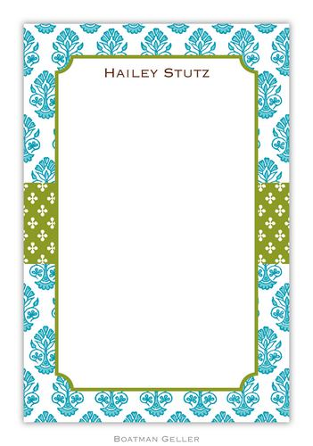 Beti Teal Personalized Notepads and Note Sheets from Boatman Geller