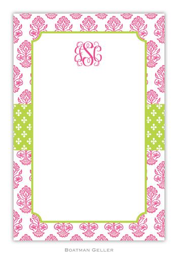 Beti Pink Personalized Notepads and Note Sheets from Boatman Geller