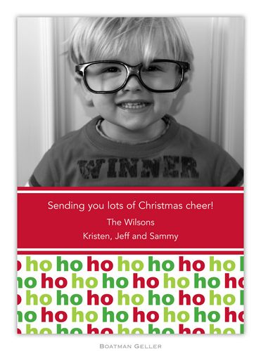Ho Ho Ho Holiday 1-Photo Card from Boatman Geller