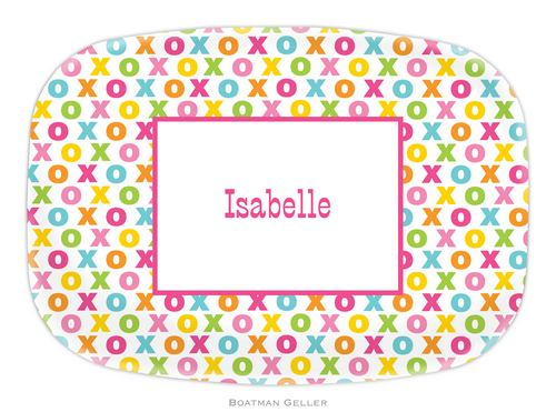 Personalized Melamine Hugs and Kisses Platter from Boatman Geller