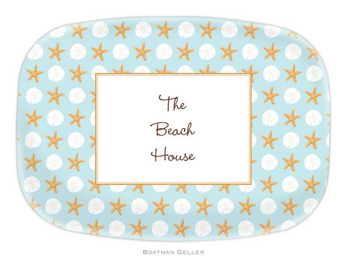 Personalized Melamine Seashore Platter from Boatman Geller