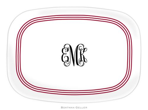 Personalized Melamine Grand Border Platter from Boatman Geller