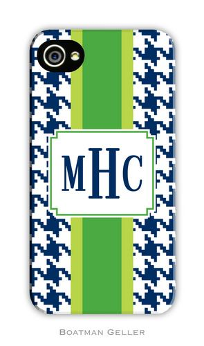 Alex Houndstooth Navy Personalized Boatman Geller Hard Cell Phone and Tech Cases