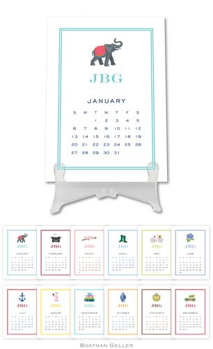 Personalized Icon Desk Calendar from Boatman Geller
