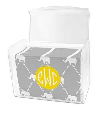 Dabney Lee Dumbo Note Cards in Lucite Stationery Box