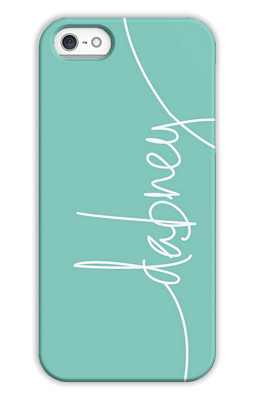 Aqua Monogrammed Tech and Phone Cases from Dabney Lee