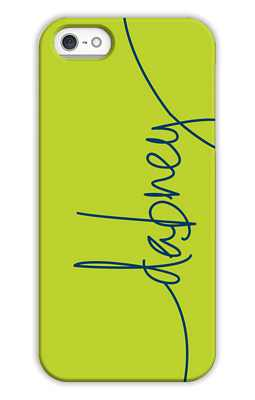 Chartreuse Monogrammed Tech and Phone Cases from Dabney Lee