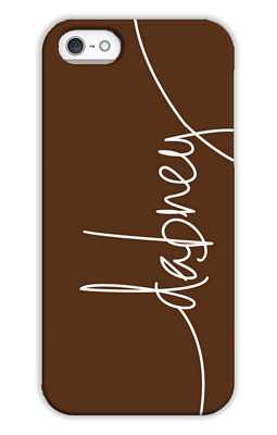 Chocolate Monogrammed Tech and Phone Cases from Dabney Lee