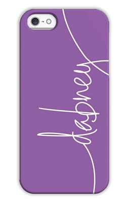 Eggplant Monogrammed Tech and Phone Cases from Dabney Lee