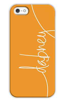 Tangerine Monogrammed Tech and Phone Cases from Dabney Lee