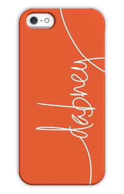 Warm Red Monogrammed Tech and Phone Cases from Dabney Lee