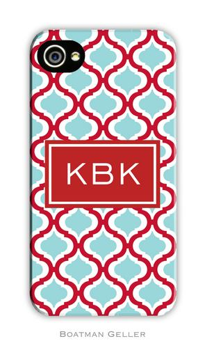 Kate Red & Teal Personalized Boatman Geller Hard Cell Phone and Tech Case