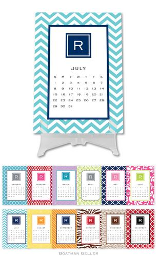 Personalized Modern Desk Calendar from Boatman Geller