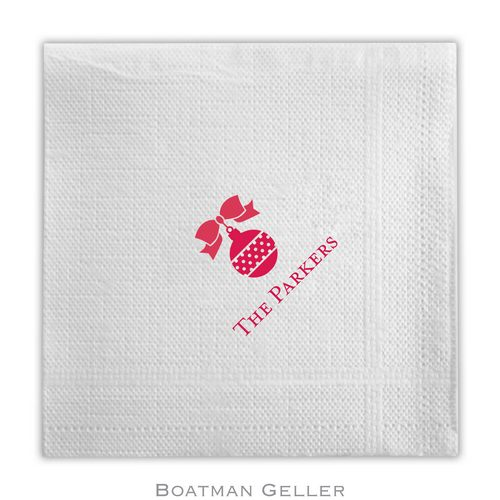 Personalized and Monogrammed Holiday Napkins and Guest Towels from Boatman Geller