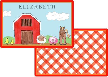 Down on the Farm Placemat from Kelly Hughes Designs