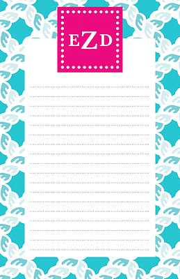 Nautical Large Notepad from Whitney English - more colors