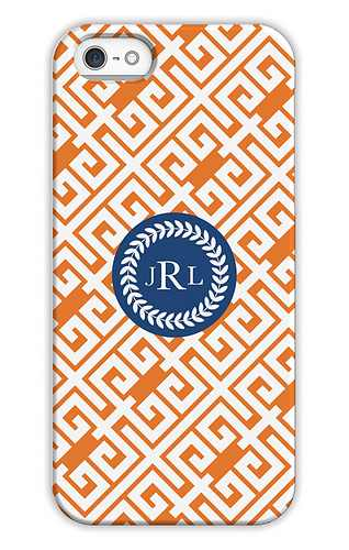 Greek Key Pumpkin Personalized Tech Cases for iPhone, iPad, iPod and Samsung by Whitney English