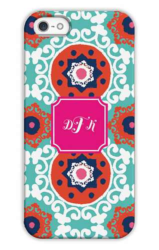 Modern Suzani Fire Personalized Tech Cases for iPhone, iPad, iPod and Samsung by Whitney English