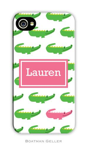 Alligator Repeat Personalized Boatman Geller Hard Cell Phone and Tech Cases