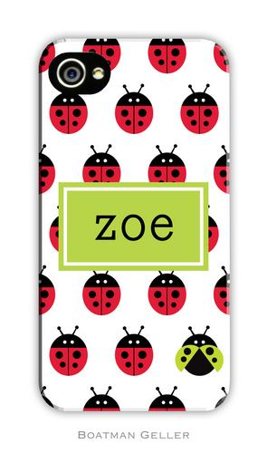 Ladybugs Repeat Personalized Boatman Geller Hard Cell Phone and Tech Cases