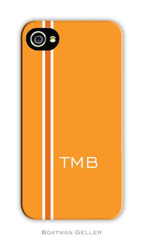 Racing Stripe Orange Personalized Boatman Geller Hard Cell Phone and Tech Cases