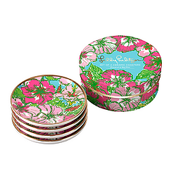 Ceramic Coaster Set from Lilly Pulitzer - Big Flirt