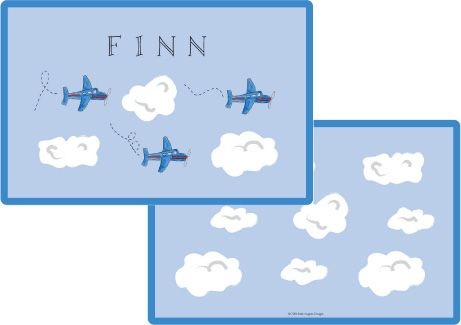 Airplane Placemat from Kelly Hughes Designs