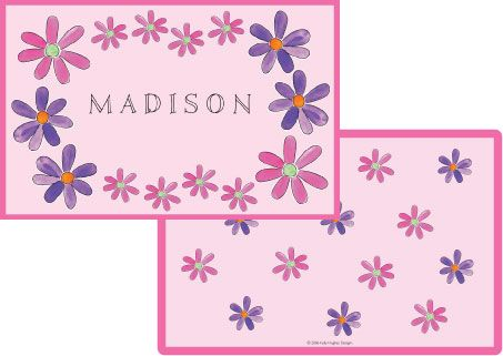 Flower Power Placemat from Kelly Hughes Designs