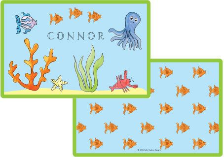 Under the Sea Placemat from Kelly Hughes Designs