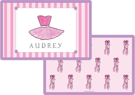 Ballerina Placemat from Kelly Hughes Designs