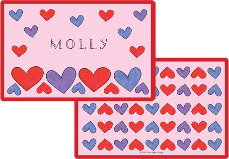 Happy Hearts Placemat from Kelly Hughes Designs