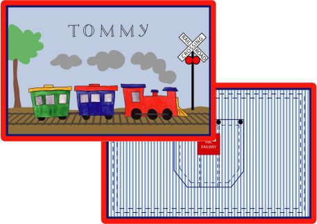 All Aboard Placemat from Kelly Hughes Designs