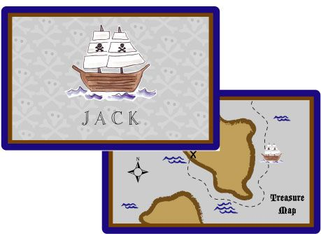 Ahoy Matey Placemat from Kelly Hughes Designs