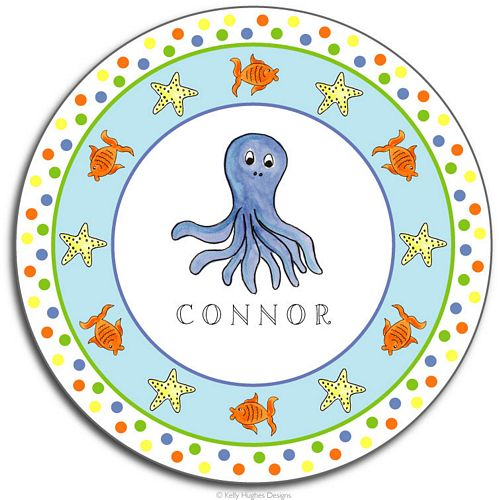 Under the Sea Melamine Plate from Kelly Hughes Designs