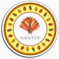Thanksgiving Melamine Plate from Kelly Hughes Designs