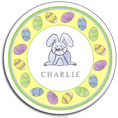 Happy Easter Melamine Plate from Kelly Hughes Designs