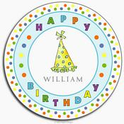 Party Hats Melamine Plate from Kelly Hughes Designs