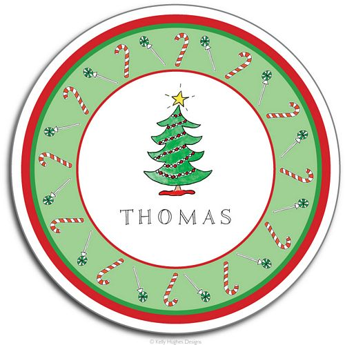 Christmas Tree Melamine Plate from Kelly Hughes Designs