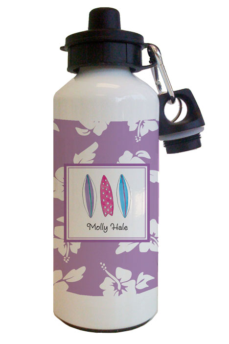 Surfer Girl Water Bottle from Kelly Hughes Designs