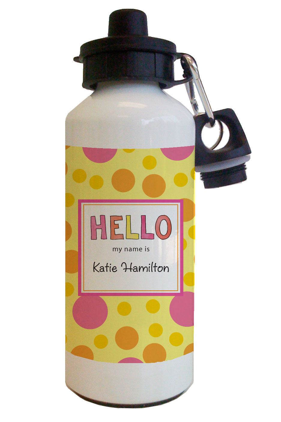 Hello My Name Is Water Bottle from Kelly Hughes Designs