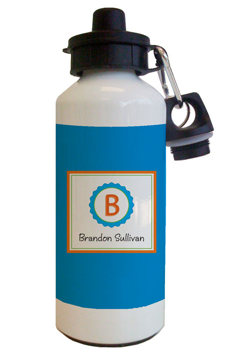 Orange Bottle Cap Water Bottle from Kelly Hughes Designs