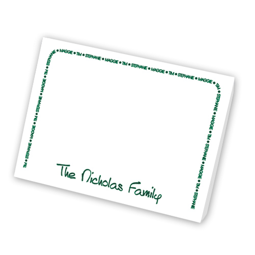 Family Arch Agenda Refill from Embossed Graphics