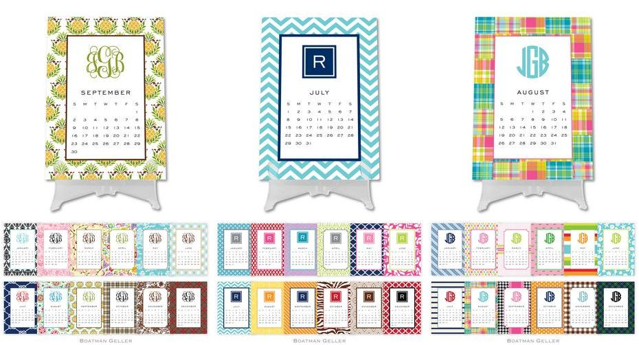 Boatman Geller Monogrammed Desk Calendars